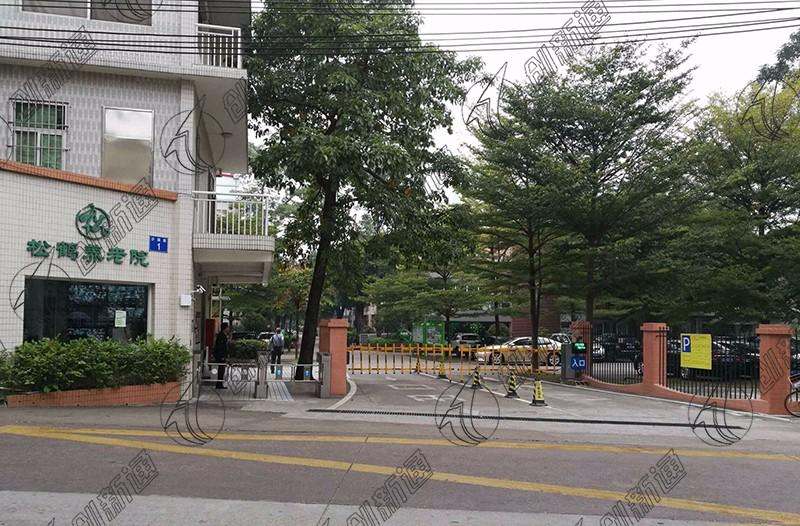 广州养老院双通道无刷摆闸案例