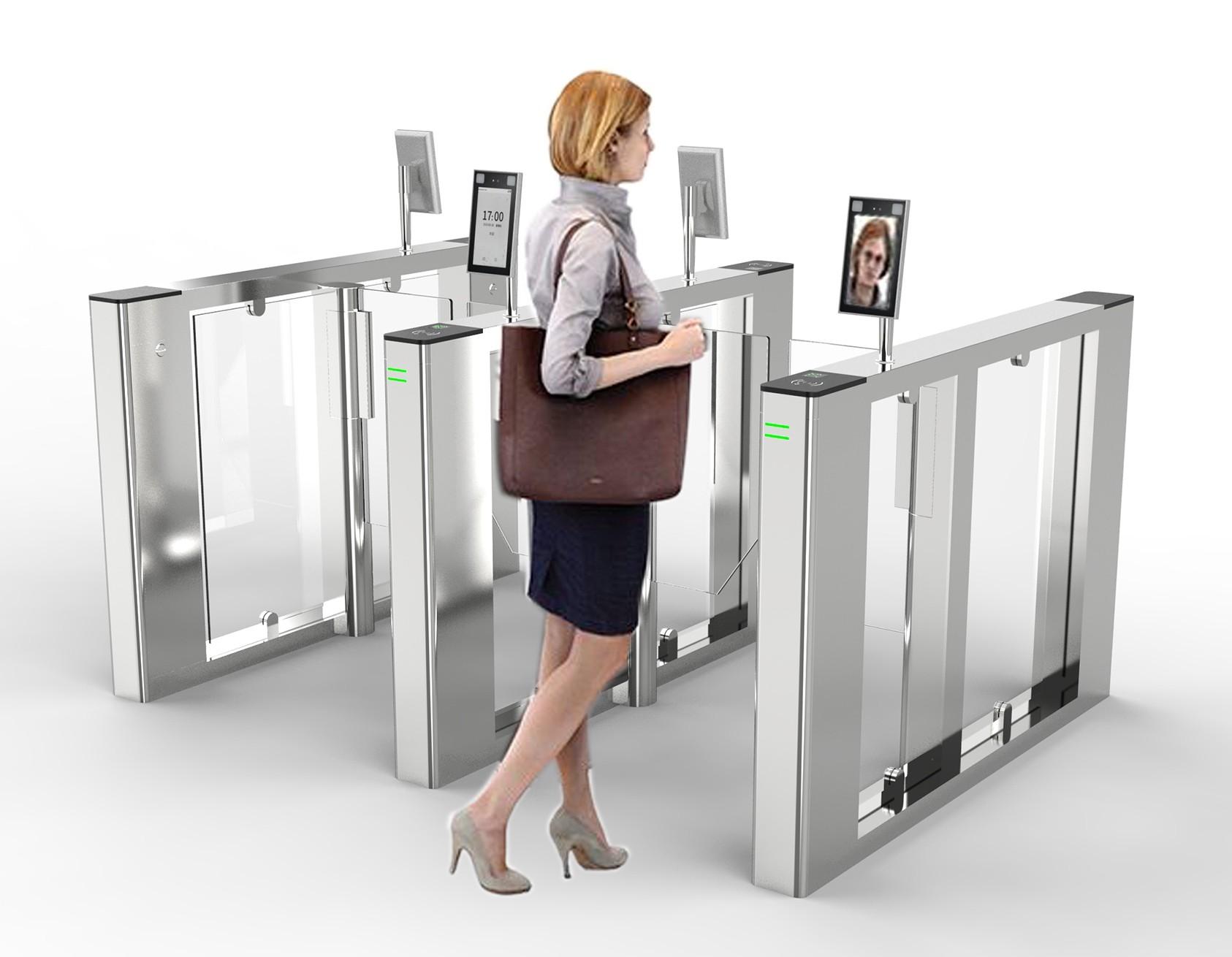 人脸识别一体化闸机访客系统引领无感通行